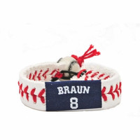 Gamewear MLB Leather Wrist Band - Brewers - Ryan Braun