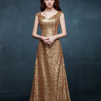 Sydney Sequin Mesh Column Gown