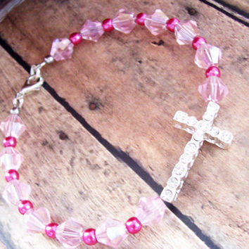 Rhinestone Cross Bracelet as Christian Jewelry For Her