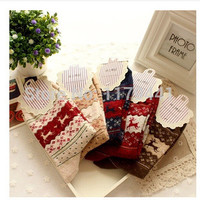 Free shipping Fashion girl Thick warm winter cotton wool women socks Animal style lady socks 5pair=10pc=lot christmas gift