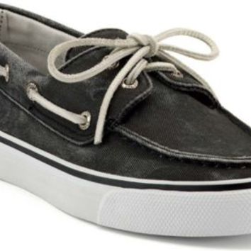 Sperry Top-Sider Bahama Canvas 2-Eye Boat Shoe Black, Size 8M  Women's Shoes
