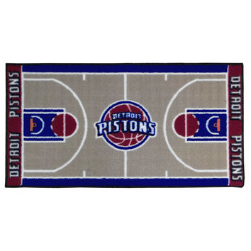 NBA Detroit Pistons Rug Basketball Runner Carpet