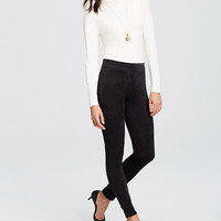 Faux Suede Side Zip Leggings | Ann Taylor