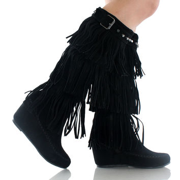 Bridget-02Hi Fringe Knee High Boots
