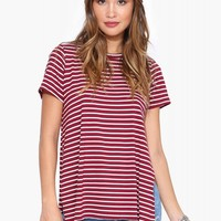 Stripe Tunic Tee Shirt