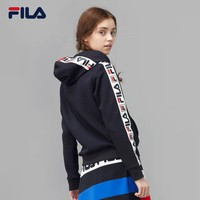 HCXX 19Sep 656 Fila Hooded Contrast stringed knit hoodie top