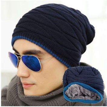 Winter Bone Fashion Knitted Hats For Men