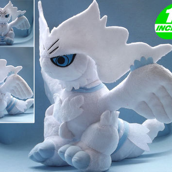 "Free Shipping 12"" Japanese Animation Pokemon Reshiram Plush Toys Anime Cartoon Stuffed Toys Dolls For Cosplay"