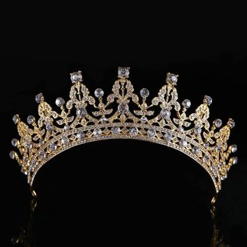 Luxury Bridal Crystal Tiara Crowns Princess Queen Pageant Prom Rhinestone Veil Cosplay