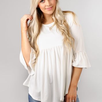 Bell Sleeve Baby Doll Tunic