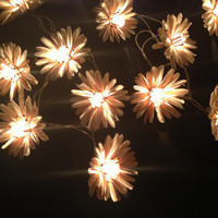 Natural color flower with pollen string lights for Patio,Wedding,Party and Decoration (20 bulbs)