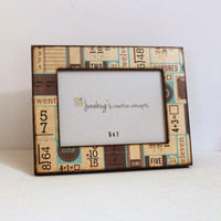 5x7 Wood Photo Frame Flashcards Teachers Gift