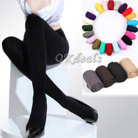 2016 NEW 1 Pair Beauty  Opaque Footed Tights Sexy Women's  Spring/Autumn/Winter Pantyhose   8 Colors