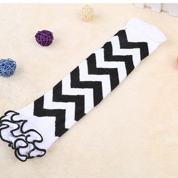 New infant leopard zebra owl leg warmers baby chevron football skull leg warmers infant socks