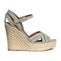 H&M Wedge-heeled Sandals $49.99