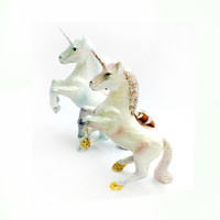 Prancing Unicorn Ornaments