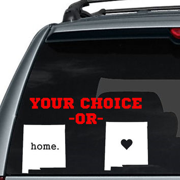 New Mexico State Home Decal / I love New Mexico Decal / State Home Decal / Car Decal / State Sticker / Car Sticker