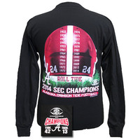 Alabama Crimson Tide  SEC Champions Logo Roll Tide Unisex Long Sleeve T Shirt