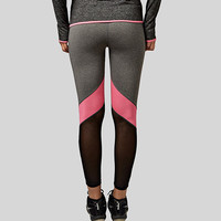 Yoga Pants Hollow Out  Net Yarn Splicing Yoga Capris for Running Sport Quick-drying Fitness Tights Woman Leggings