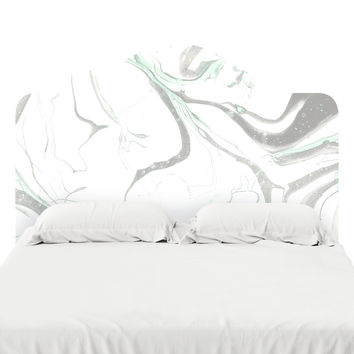 Pale Marble Headboard Decal