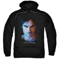 VAMPIRE DIARIES/DAMON-ADULT PULL-OVER HOODIE-BLACK