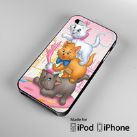 Aristocats cats A0182 iPhone 4S 5S 5C 6 6Plus, iPod 4 5, LG G2 G3, Sony Z2 Case