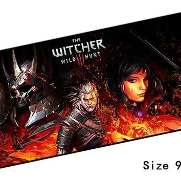 witcher mouse pad 90x40mm pad to mouse notbook computer mousepad hot sales gaming padmouse gamer cheapest keyboard mouse mats