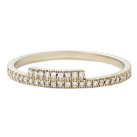 Monique Péan White Gold and Diamond Pavé Ring- Pavé Diamond Ring - ShopBAZAAR