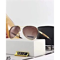 Giorgio Armani trend men and women models sunscreen anti-UV large frame color film polarized sunglasses #5