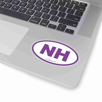 New Hampshire State Shape Sticker PURPLE