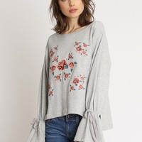 Blossom Floral Embroidered Sweatshirt | Ruche