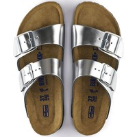 Birkenstock Arizona Soft Footbed - Metallic Silver