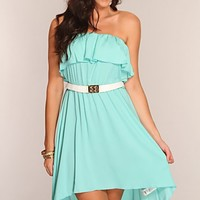 Seafoam High Low Hem Dress