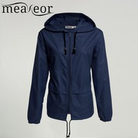 Women Windbreaker Hooded Lightweight Waterproof Sun protection casual Rain coat