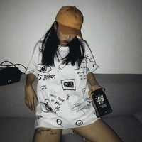Hand Drawn Oversized Tee