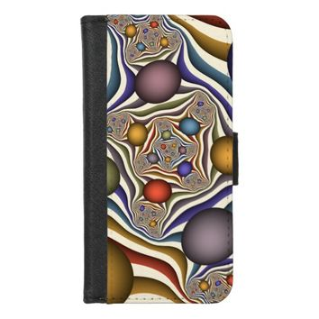 Flying Up, Colorful Modern Abstract Fractal Art iPhone 8/7 Wallet Case