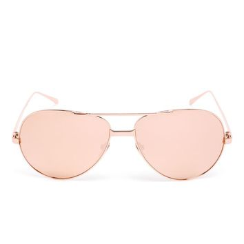 LINDA FARROW   Rose Gold Aviator Sunglasses   brownsfashion.com   The Finest Edit of Luxury Fashion   Clothes, Shoes, Bags and Accessories for Men & Women