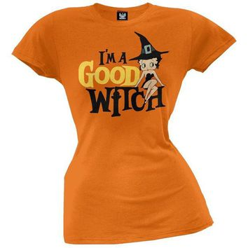 PEAPGQ9 Betty Boop - Good Witch Juniors T-Shirt