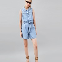 SLEEVELESS AUTHENTIC DENIM DRESS