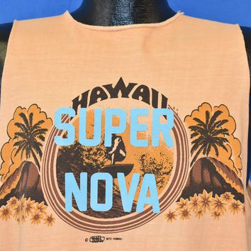 70s Hawaii Super Nova Smiley Sleeveless t-shirt Large