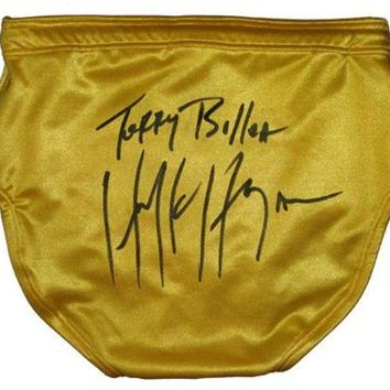 CREYONY Hulk Hogan Signed Autographed 'Terry Bollea' Ring Issued Wrestling Trunks (ASI COA)