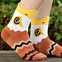 Bald Eagle Hawk Bird Shaped Animal Short Cotton Socks for Women