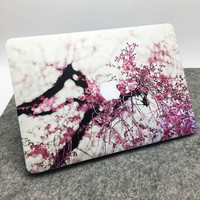 White Marble Grain Front Cover Laptop Decal Sticker Case For Apple Macbook Air Pro 11 13 15 Inch Guard Protective Cover Skin