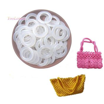 White Plastic Ring Curtain Rings Crochet Net Bag Garments Shoes Backpack Outdoor Bag Parts BZZ03