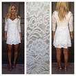 Ivory Isla Lace 3/4 Sleeve Dress