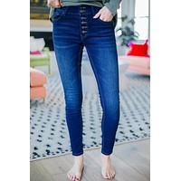 Exposé Button Fly Wax Brand Jeans