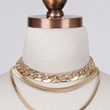 Libby Choker Pack Set Gold