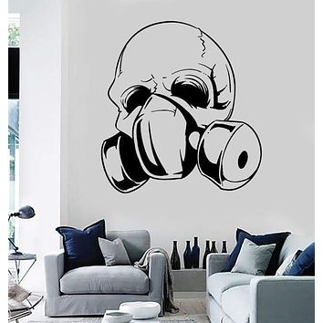 Wall Stickers Vinyl Decal Skull In Gas Mask Apocalypse Gothic Decor Unique Gift (z2314)