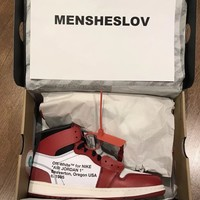 Authentic Nike Air Jordan 1 x Virgil Abloh Off - White UK 8.5 / 9.5 US / EU 43