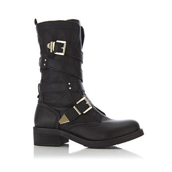 Punk Leather Biker Boot